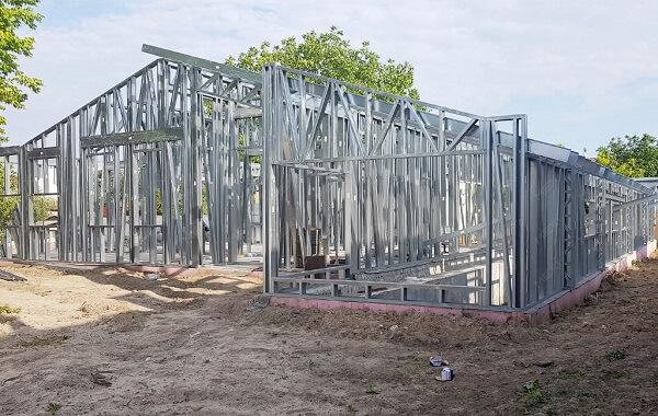 Khung thép nhà tiền chế 1 tầng mẫu số 2