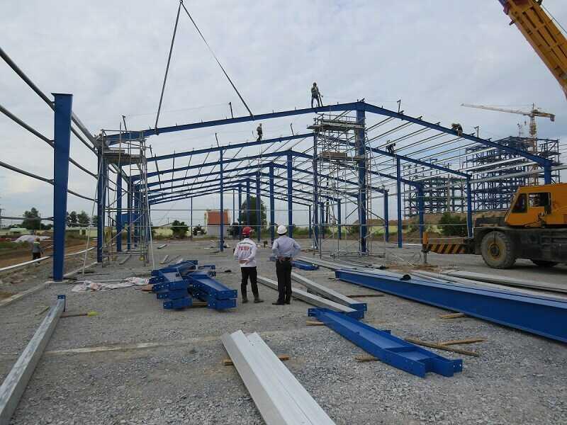 Thi công nhà máy nhiệt điện Long Phú 1